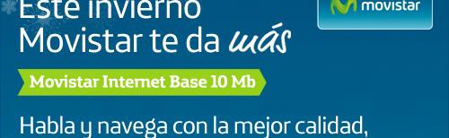 Sólo con Movistar Internet Base 10 Mb,  habla y navega con la mejor calidad PARA SIEMPRE