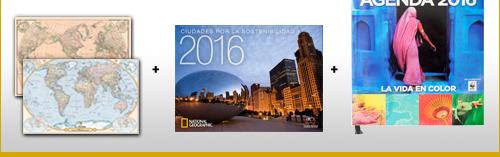 Además de regalo recibirás 2 ediciones especiales national geographic, calendario 2015 national geographic y agenda exclusiva 2015